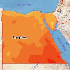 Temperatur ägypten November